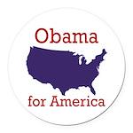 Obama for America Round Car Magnet