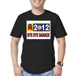 BYE BYE BARACK Men's Fitted T-Shirt (dark)