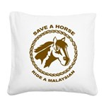 Ride A Malaysian Square Canvas Pillow