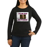 NOT JULIA Women's Long Sleeve Dark T-Shirt