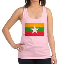 Myanmar Flag Racerback Tank Top