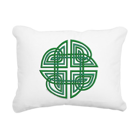 Celtic Four Leaf Clover Rectangular Canvas Pillow