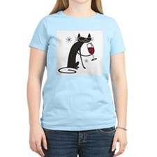 wine-cat-no text.tif T-Shirt