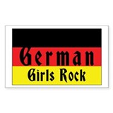 German Girls Rock Rectangle Decal