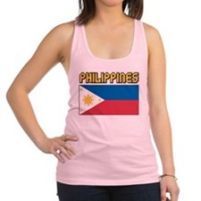 Philippines Flag Racerback Tank Top