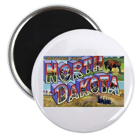 "North Dakota Greetings 2.25"" Magnet (10 pack)"