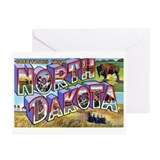 North Dakota Greetings Greeting Cards (Package of