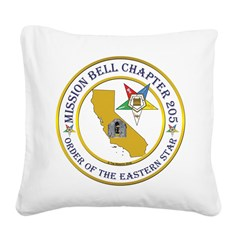 Custom Mission Bell OES Square Canvas Pillow