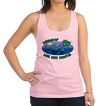 Beware Of Loch Ness Monster Racerback Tank Top