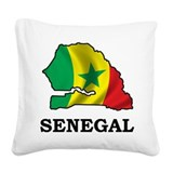 Map Of Senegal Square Canvas Pillow