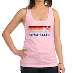 Retro Palm Tree Seychelles Racerback Tank Top