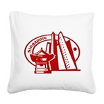 Singapore Square Canvas Pillow