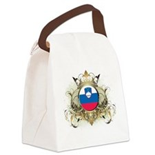 Stylish Slovenia Canvas Lunch Bag