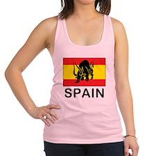 Spain Running Of The Bulls Racerback Tank Top