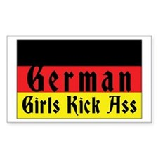 German Girls Kick Ass Rectangle Decal