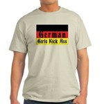 German Girls Kick Ass Ash Grey T-Shirt