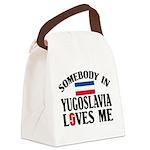 Somebody In Yugoslavia Canvas Lunch Bag