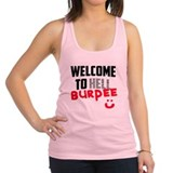 welcome to Burpee Racerback Tank Top
