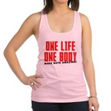 ONE-BODY.png Racerback Tank Top