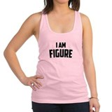 i-am-fig-b.png Racerback Tank Top