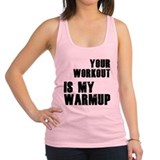 your-work-b.png Racerback Tank Top
