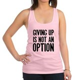 giving-up.jpg Racerback Tank Top