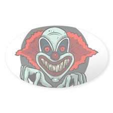 Evil Clown Oval Decal