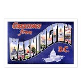 Washington, D.C. Greetings Postcards (Package of 8