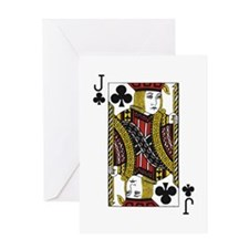 Jack of Clubs Greeting Card