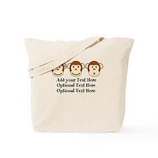 Three Monkeys Design Tote Bag