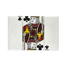 King of Clubs Rectangle Magnet (10 pack)