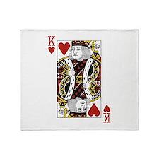 King of Hearts Throw Blanket