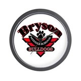 Bryson MS Bulldogs Wall Clock