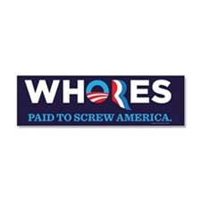 Whores 2012 Car Magnet 10 x 3