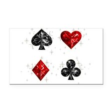 Poker Rectangle Car Magnet