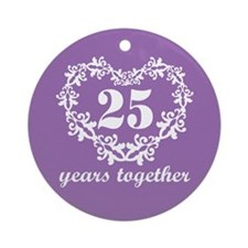 25 Years Together Ornament (Round)