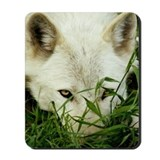 Wolf Peeking Mousepad