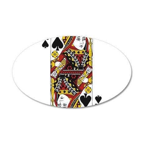 Queen of Spades 35x21 Oval Wall Decal