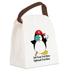 Pirate Penguin Canvas Lunch Bag