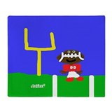 HI54JOC Football Fella Throw Blanket