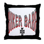 Biker Babe Throw Pillow
