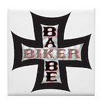 Biker Babe Tile Coaster