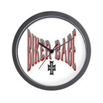 Biker Babe Wall Clock