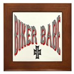 Biker Babe Framed Tile