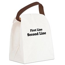 2lineTextPersonalization Canvas Lunch Bag