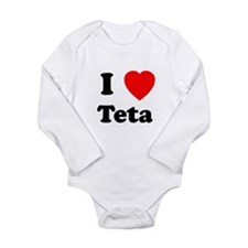 I heart Teta Long Sleeve Infant Bodysuit