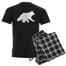 White Bear Cub Crossing Walking Silhouette Pajamas
