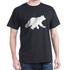 White Bear Cub Crossing Walking Silhouette T-Shirt