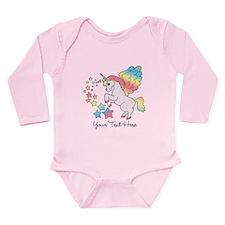 Unicorn Rainbow Star Long Sleeve Infant Bodysuit