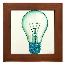 light bulb lamp pixel Framed Tile